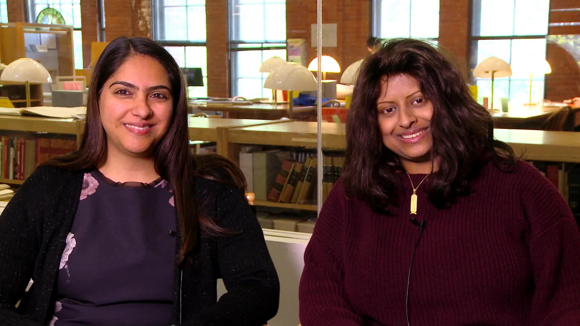 Neelofer Chaudry and Mahima Joishy, Class of 1996